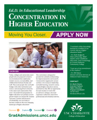 photo of Higher Education Concentration Brochure